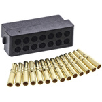 Datamate Connector Kit Containing 14 way DIL Female Shell, Crimps