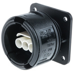 Elkay Electrical 3 Pole IP68 Rating Panel Mount Female IEC Connector Rated At 16A