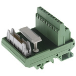 Phoenix Contact, 20 Pole Flat Ribbon Cable Connector, Male Interface Module, DIN Rail Mount