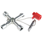 RS PRO Aluminium 4 way Control Cabinet Key