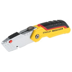 Stanley Retractable 140.0mm Folding; Utility Safety Knife with Straight Blade