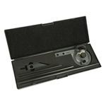 RS PRO Protractor, 360° Range, 150mm Alloy Steel Blade