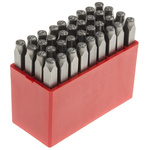 RS PRO 36 Piece Engraving Letter Punch Set