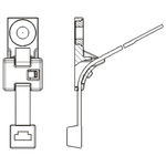 HellermannTyton HDM8 Series, Black Nylon 66 Cable Tie Assemblies380mm x 7.6mm