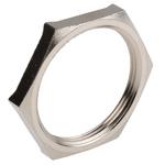 Lapp Nickel Plated Brass Cable Gland Locknut, M40 Thread