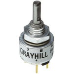 Grayhill 8 Pulse Incremental Mechanical Rotary Encoder with a 3.18 mm Flat Shaft (Not Indexed)