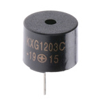 Kingstate 5V dc, PCB Mount Electromagnetic Buzzer, 85dB Continuous