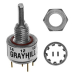 Grayhill Optical Encoder with a 3.18 mm Flat Shaft, Panel Mount