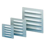 Grey Steel Vent Grille, 160 x 160mm
