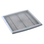 Grey Plastic Vent Grille, 268 x 248mm