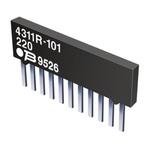 Bourns 4300R Series 100kΩ ±2% Bussed Through Hole Resistor Array, 9 Resistors, 1.25W total SIP package Pin