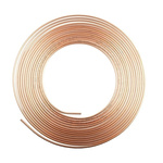 RS PRO 10m Long 128 bar Copper Tubing, -50 to +200°C