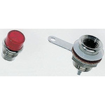 Panel Mount Indicator Lens Rectangle Style, Red