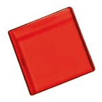 Panel Mount Indicator Lens Square Style, Red, 29mm Long