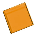 Panel Mount Indicator Lens Square Style, Amber, 29mm Long