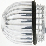 Panel Mount Indicator Lens Domed Style, Clear, 15.86mm diameter , 15.86mm Long