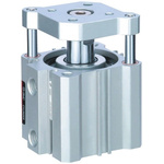 SMC Pneumatic Guided Cylinder 20mm Bore, 10mm Stroke, CQM Series, Double Acting