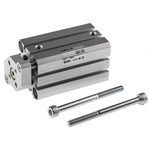 SMC Pneumatic Guided Cylinder 20mm Bore, 30mm Stroke, CQM Series, Double Acting