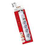 Type E - French 4 Gang Trailing Socket, No, Surge Protected