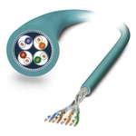 Phoenix Contact Shielded Cat6a Cable 100m, Blue