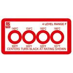 RS PRO Non-Reversible Temperature Sensitive Label, 149°C to +166°C, 4 Levels