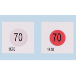 Asei Kougyou Temperature Sensitive Label, 80°C, 1 Level