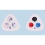Asei Kougyou Temperature Sensitive Label, 90°C to 110°C, 3 Levels