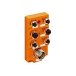 Hirschmann M12 Sensor Box, 6 Port