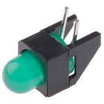 Broadcom HLMP-3507-D00B2, Green Right Angle PCB LED Indicator, Through Hole 2.7 V