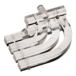 515-1023F Dialight, PCB Mounted 4-Way Right Angle LED Light Pipe, Quad-Level-Row Clear Square Lens
