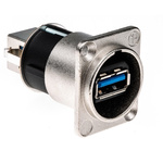Neutrik USB 3.0 Feedthrough Gender Changer for use with USB 3.0 Connectors