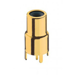 Lumberg Black, Gold PCB Mount RCA Socket, Gold, 2A