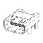 Molex Type D 19 Way Male Right Angle HDMI Connector 30 V