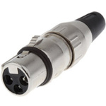 Deltron Cable Mount XLR Connector, Female, 50 V ac, 5 Way, Silver Plating