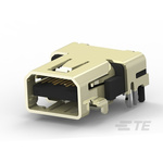 TE Connectivity 20 Way Female Right Angle HDMI Connector 40 V ac