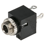 Lumberg 3.5 mm Through Hole Mono Jack Socket, 2Pole 1A