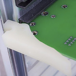 1107-062 BK, Horizontal Mount PCB Card Guide 50.8mm Long, for Maximum of 1.6mm