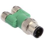 Phoenix Contact 4 Pole M12 Plug to 6 Pole M8 Socket Adapter