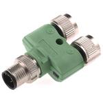 Phoenix Contact 5 Pole M12 Plug to 2 Pole M12 Socket Adapter