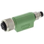 Phoenix Contact 4 Pole M8 Plug to 4 Pole M12 Socket Adapter