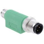 Phoenix Contact 4 Pole M12 Plug to 4 Pole M8 Socket Adapter