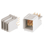 ERNI, ERmet 2mm Pitch Universal Power Module Backplane Connector, Male, Right Angle, 4 Column, 4 Row, 3 Way