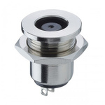 Lumberg, 1614 DC Socket Rated At 10.0A, 24.0 V, Snap-In, length 16.5mm, Nickel