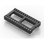 TE Connectivity 2.54mm Pitch Straight 28 Way, Through Hole Ladder IC Dip Socket, 1A