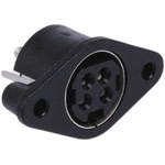 Kycon, KPJX Right Angle DC Socket Rated At 7.5A, 48.0 V, Panel Mount, length 25.2mm, Tin