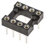 Preci-Dip 2.54mm Pitch Vertical 8 Way, Through Hole Turned Pin Open Frame IC Dip Socket, 1A