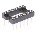 Preci-Dip 2.54mm Pitch Vertical 12 Way, Through Hole Turned Pin Open Frame IC Dip Socket, 1A