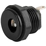 Schurter, 4840 DC Socket Rated At 1.0A, 12.0 V, Panel Mount, length 12.5mm, Silver