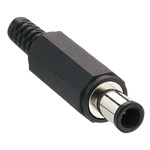 Lumberg DC Plug Rated At 2.0A, 24.0 V, Cable Mount, length 37.0mm, Nickel