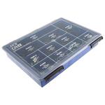 JCS 104 Piece Steel P-Clip Kit, Black Rubber Coating